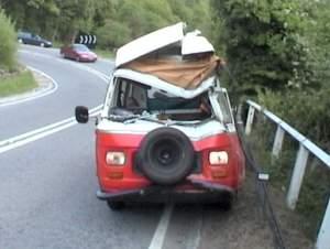 crunched van