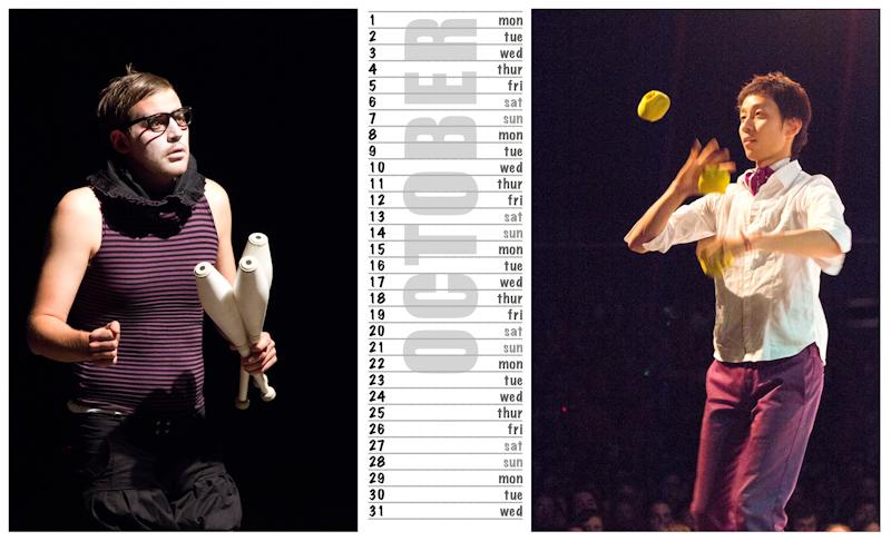 Jugglers Calendar 2012 photos by Luke Burrage - 10.