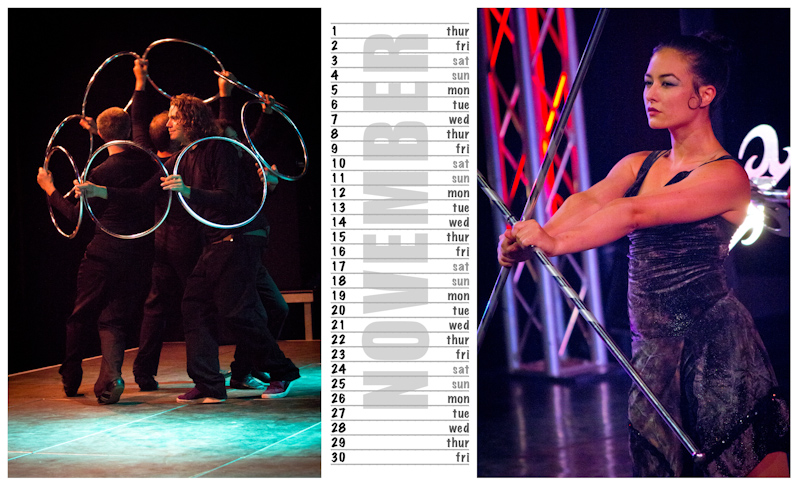 Jugglers Calendar 2012 photos by Luke Burrage - 11.