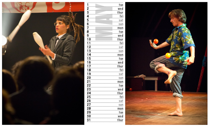Jugglers Calendar 2012 photos by Luke Burrage - 5.