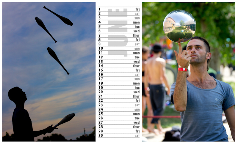 Jugglers Calendar 2012 photos by Luke Burrage - 6.