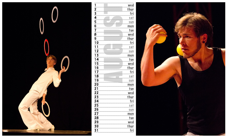 Jugglers Calendar 2012 photos by Luke Burrage - 8.