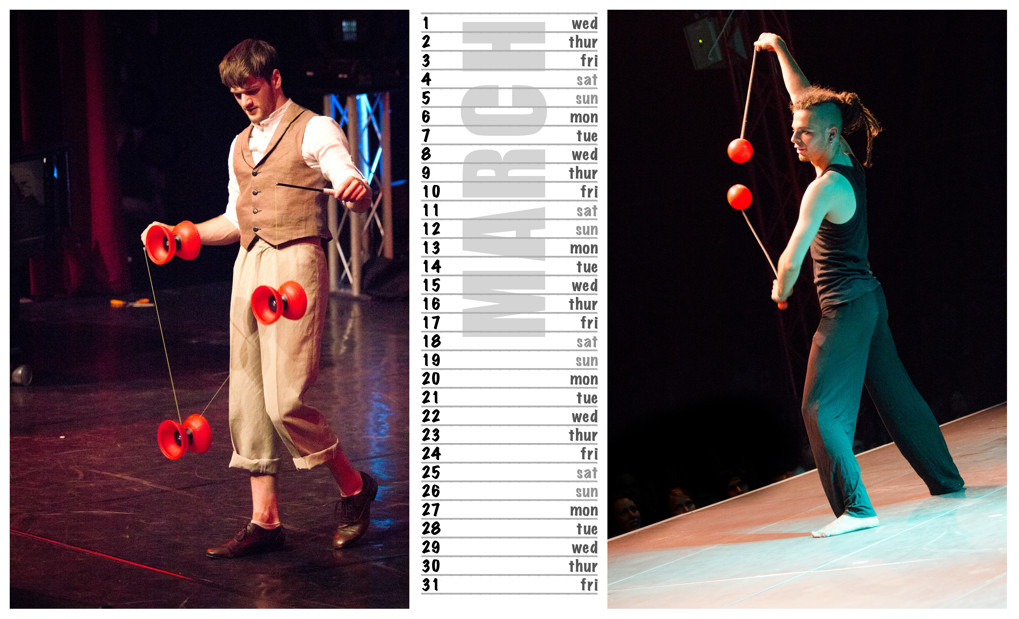 Jugglers' Calendar 2012 photos by Luke Burrage |