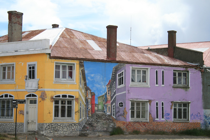 Interesting paintwork on a building on the sea front (photo from 2007 trip).
