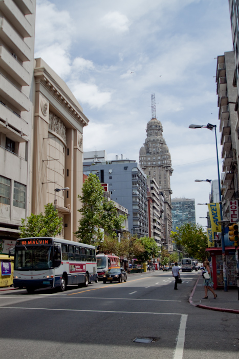 Main shopping street in Montevideo.