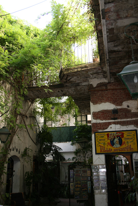 The courtyards in San Telmo (2008).