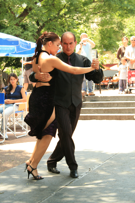 Tango street show in San Telmo (2008).