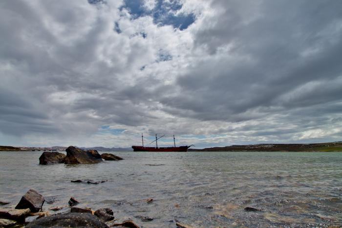 Lady Elizabeth shipwreck (2009).