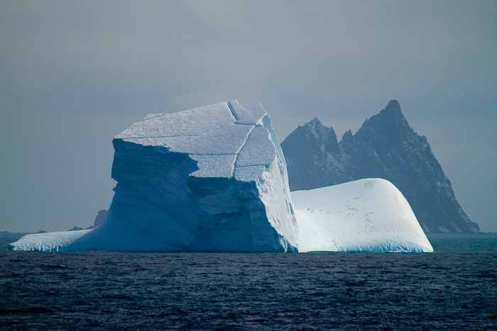 There are many impressive icebergs in the water around Antarctica. Here's one.