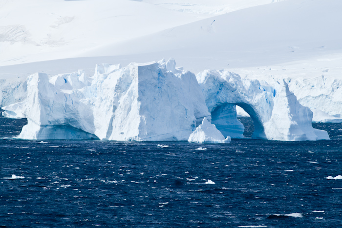 Another awesome iceberg, this one with an arch.