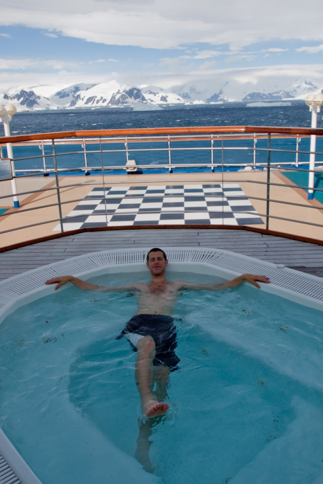 Me in the jacuzzi.