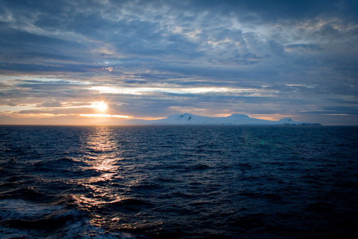 Sunset in Antarctica.