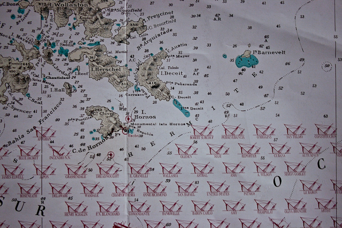 Here's a shipping chart showing just how dangerous these waters can be (photo from 2007).