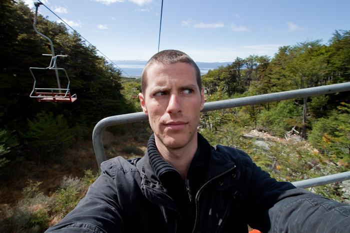 Me on the ski lift.