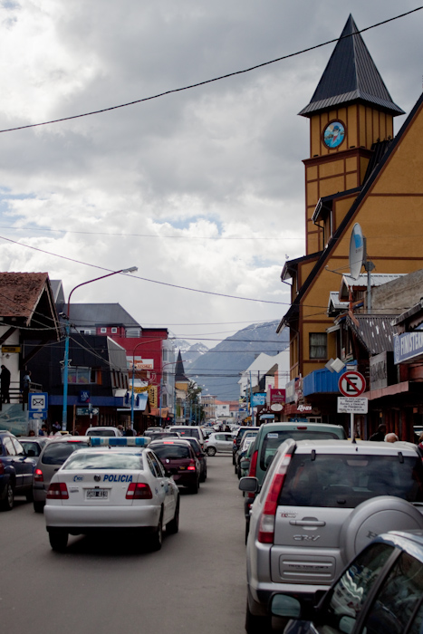 The main street in Ushuaia.