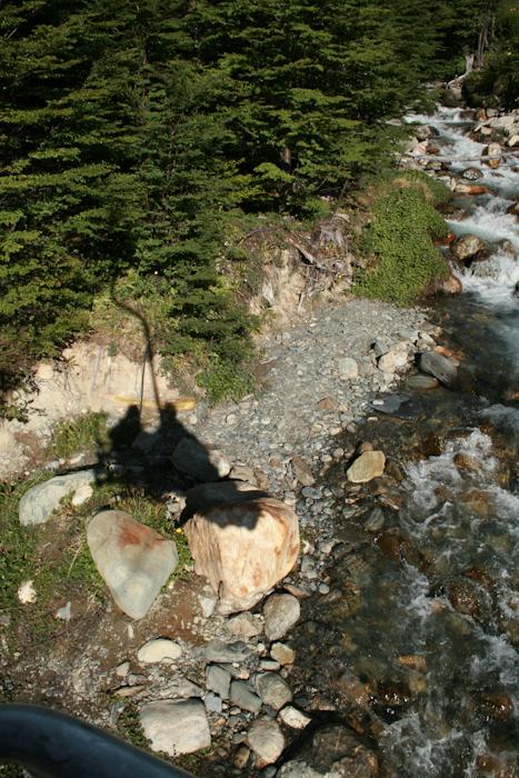 Shadow of riding the ski lift (2008).