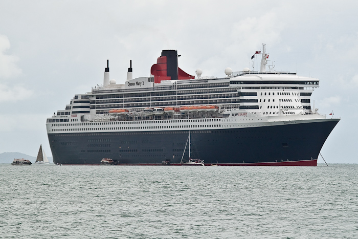 The Queen Mary 2 ocean liner.