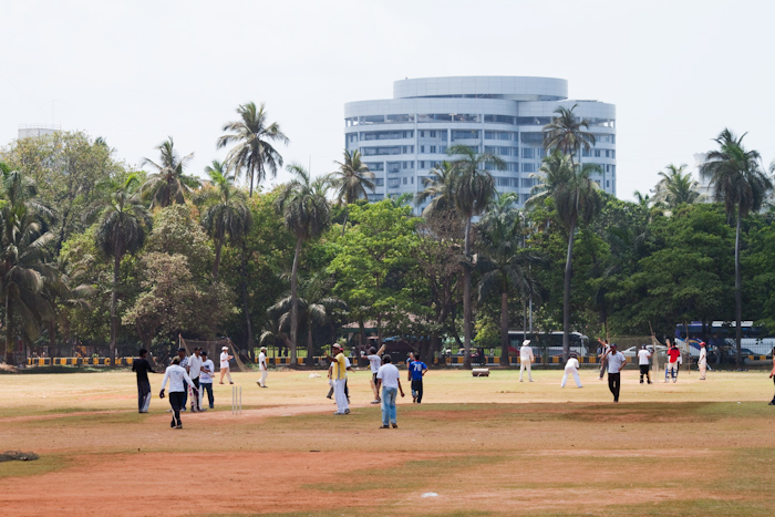 The Oval Maidan, a large green in the city center, mainly used for cricket practice.