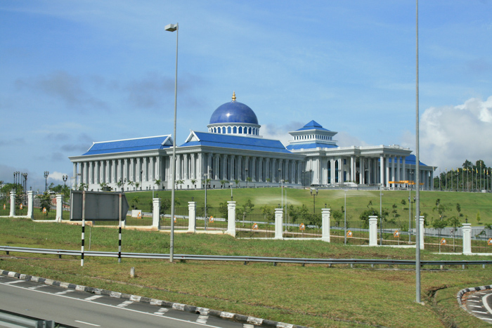 One of the many large building projects in Brunei.