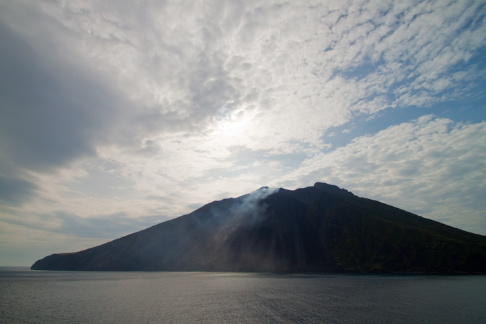 No, I was on a cruise ship that sailed past Stromboli. I've done this before, on the same ship, but this time the volcano was more active!
