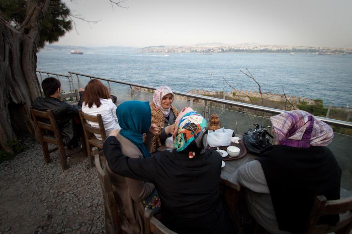 Overlooking the Bosporus.