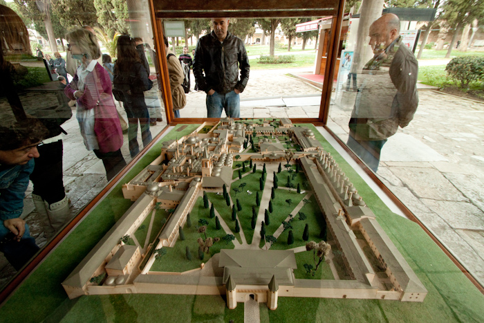 A model of the palace grounds. It is now purely a museum.