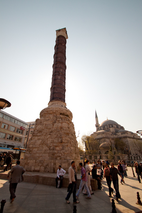 Of course, I didn't take my camera into the massage place, but this was just outside. It's the pillar which all roads and measurements were taken from during the Byzantine empire. This was the center of the empire, in one way.