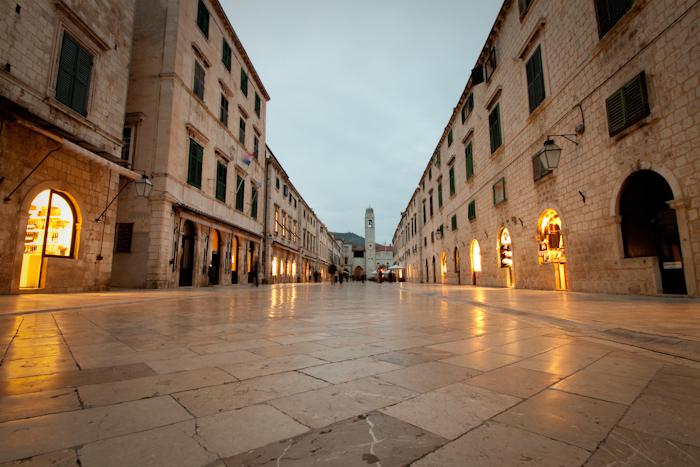 The main street.