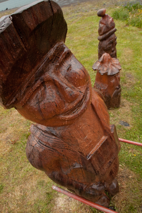 My only photo while off the ship in Seydisfjordur, some wooden sculptures.