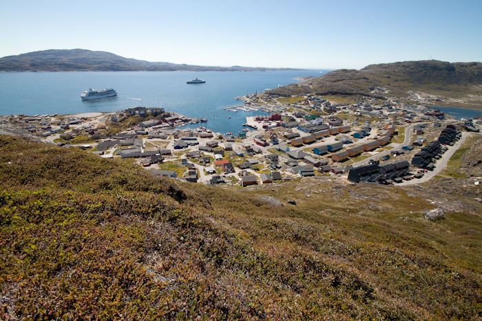 Qaqortoq from the top of the hill.