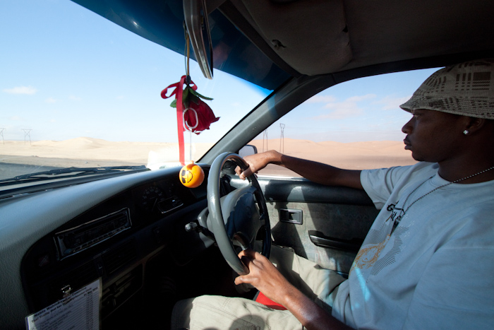 So on to Warvis Bay, Namibia! I took a shuttle bus from the port into town. On the way I saw Chris, another guest entertainer, wandering round and looking a bit lost for something to do. I offered a mini adventure, and we caught a cab out to the desert.