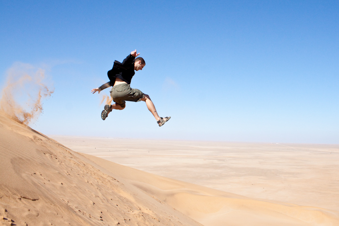 Jumping! This is one of my favorite things to do on a sand dune.