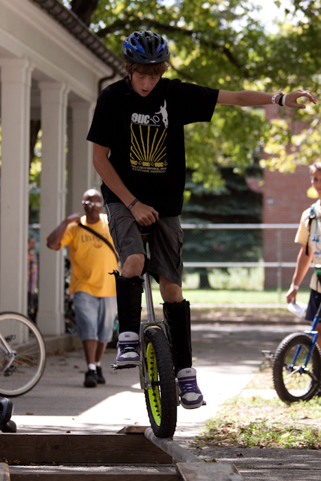 Trials unicycling.