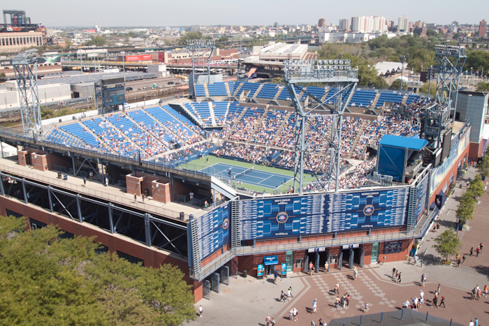 From the top of the Arthur Ashe Stadium I could have watched the match in the other arena.