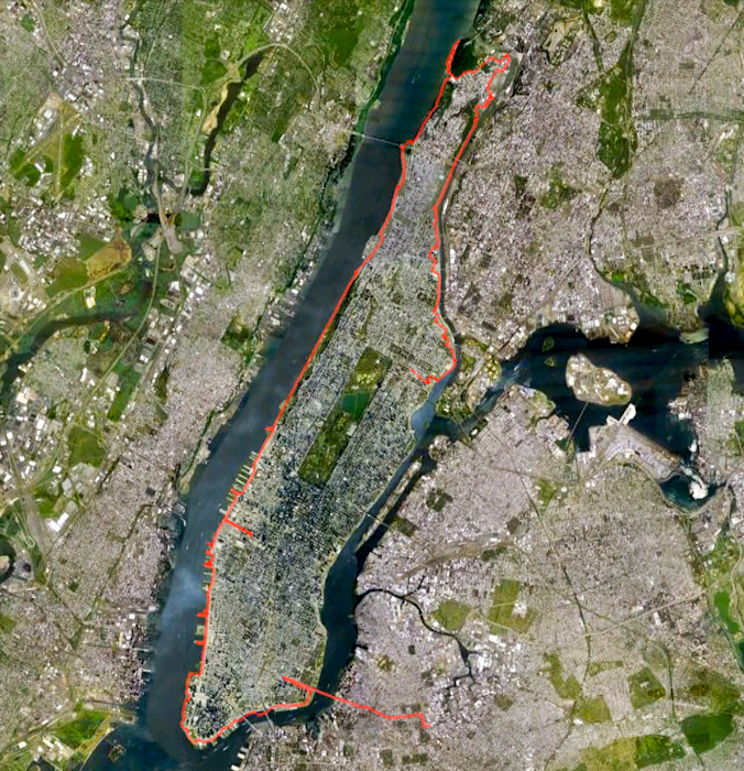 On Monday I decided to cycle clockwise round Manhattan Island. I got most of the way, but then the heavens opened and it just wasn't funny any more. I caught the subway home.