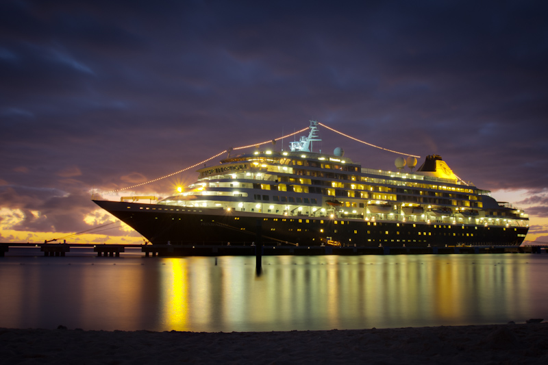 Here's a HDR photo of the Prinsendam. I take a lot of photos of this ship, and I think this is one of my favorites.