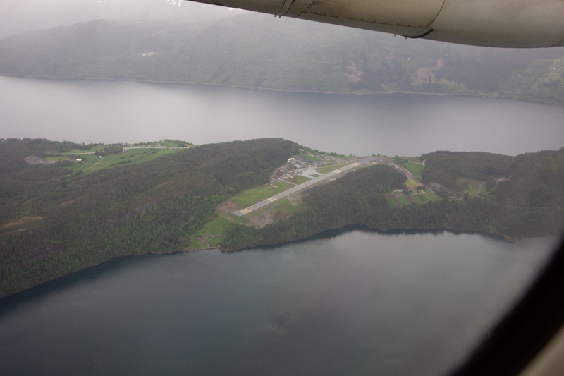 We took off from a very short runway. : Shortest runway in Norway!