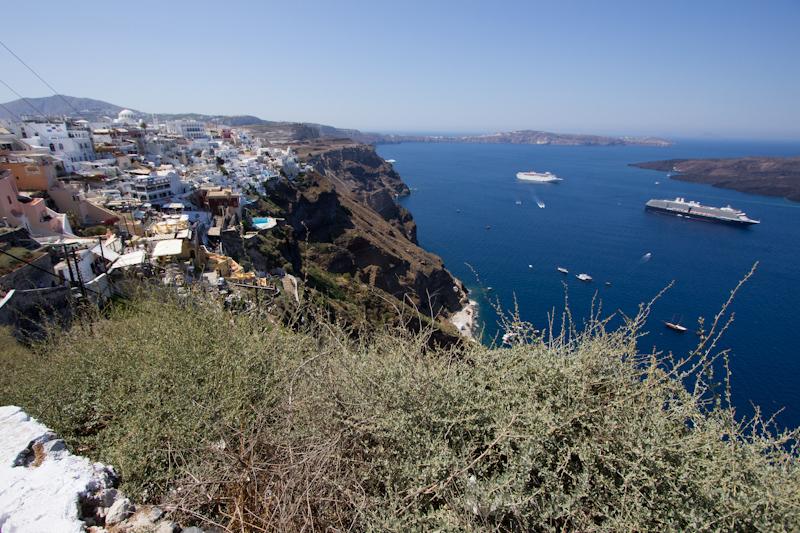 Summer cruising: Santorini, Greece.