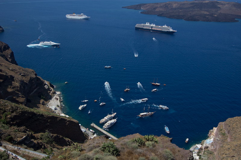 Summer cruising: Santorini, Greece.