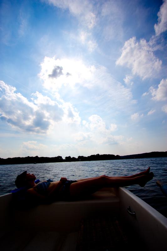 Juliane and Luke on a boat: no description