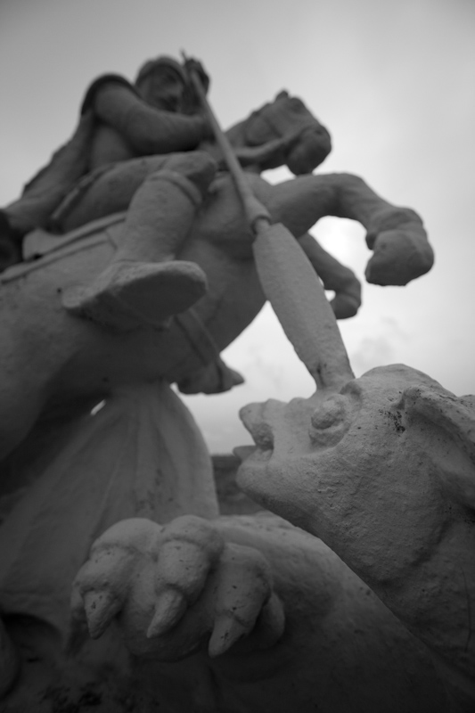 The first project was a St. George and the Dragon statue.