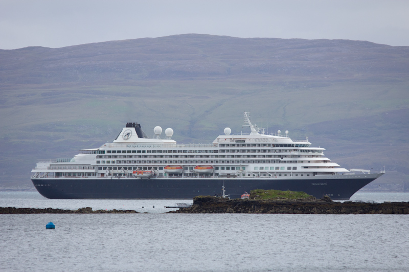 The Prinsendam by the Isle of Skye.