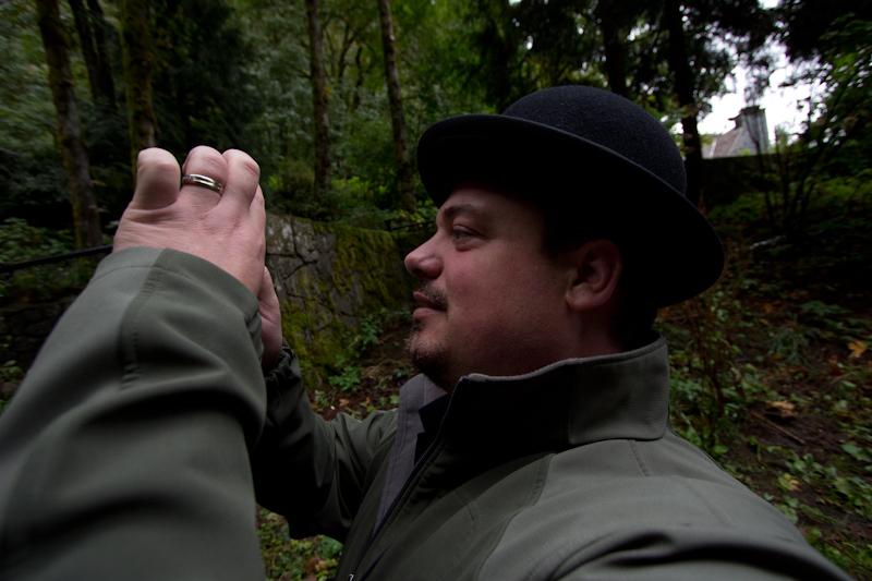 Rob at the Multnomah Falls.