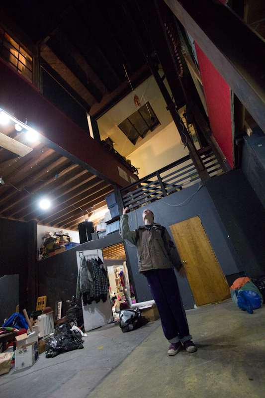 Brian, my host at the Vulcan, where I stayed for three nights in total. The Vulcan is a massive collection of artist and circus studio apartments, and is always full of interesting people doing interesting things.