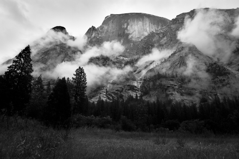 Clouds at the Half Dome.