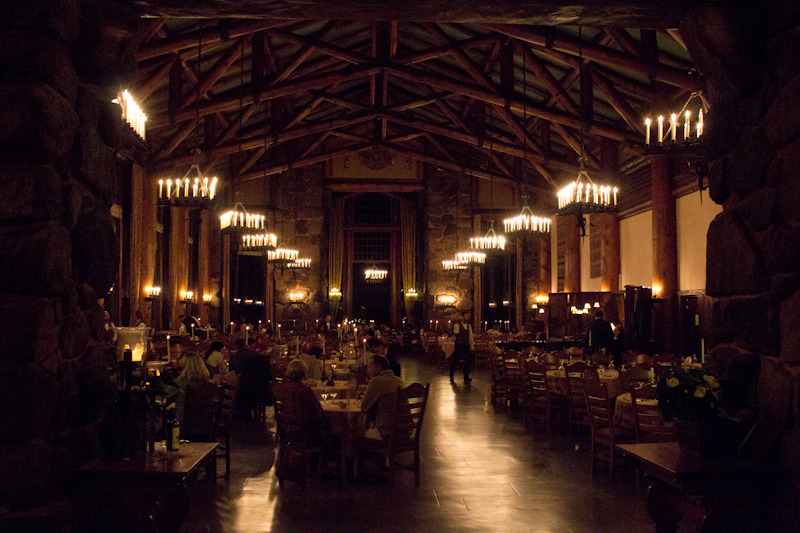 The dining room at the Ahwahnee Hotel, where I ate on of the most expensive single meals of my life. I think I paid more for the building I was in rather than the food or wine.