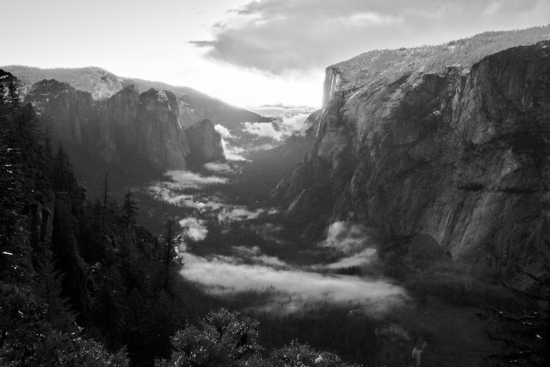 After the sun dropped below the horizon, mist began to fill the bottom of the valley.