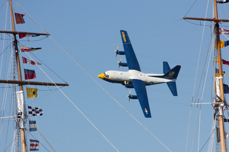 The service plane for the Blue Angels.
