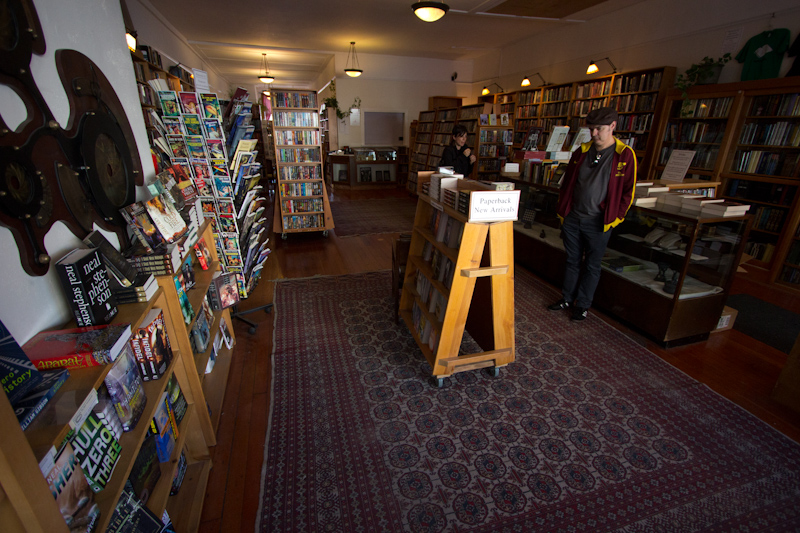 Borderlands, a science fiction and fantasy bookshop in the Mission District. Great for nerding out!