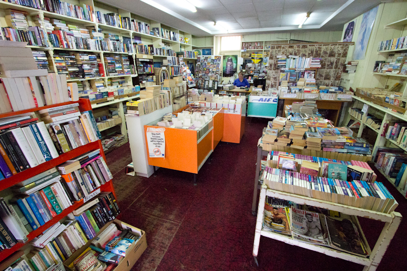 New Zealand: Second hand bookshop in Dunedin.